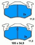BRAKE PADS REAR RENAULT CLIO MK2 1998 1999 2000 2001 2002 2003 2004 2005 BENDIX TYPE (976)